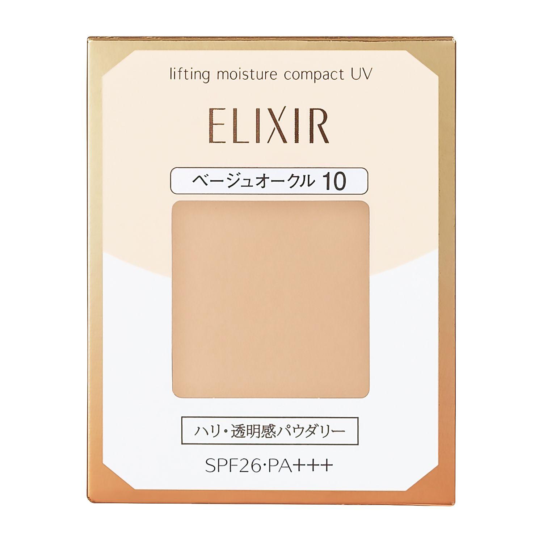 資生堂 エリクシール シュペリエル リフティングモイスチャーパクト UV ベージュオークル10 (レフィル) 9.2gのバリエーション5
