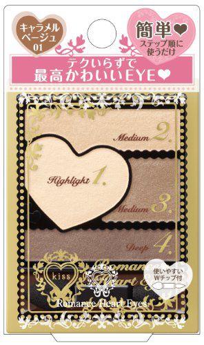 キス ロマンスハートアイズ 01 キャラメルベージュ 3.5g の画像 0