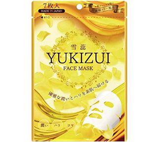 null 雪蕊 YUKIZUI フェイスマスク 防腐剤フリー 天然コットン使用でふんわり密着感 7枚入の画像