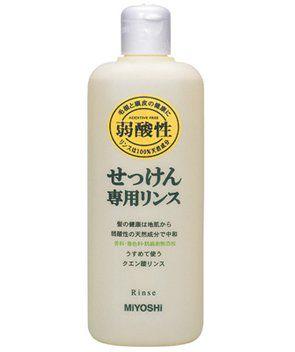 MIYOSHI ミヨシ MIYOSHI 無添加 せっけん専用リンス リンス/本体 350mlの画像