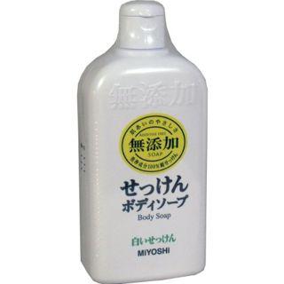 null ミヨシ MIYOSHI 無添加 ボディソープ白いせっけん 本体 400mlの画像
