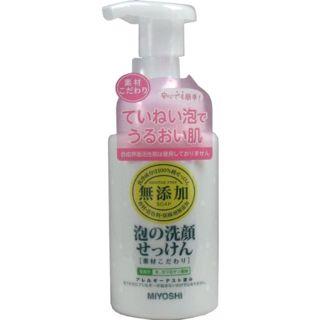 MIYOSHI ミヨシ MIYOSHI 無添加 素材こだわり 泡の洗顔せっけん 本体 200mlの画像