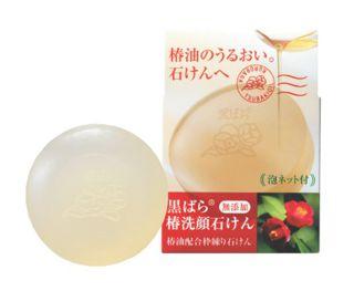 黒ばら本舗 黒ばら本舗 KUROBARA HONPO 椿洗顔石鹸 60gの画像