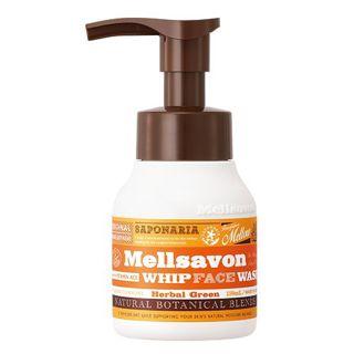 メルサボン メルサボン Mellsavon メルサボン ホイップフェイスウォッシュ 本体 150ml ハーバルグリーンの画像