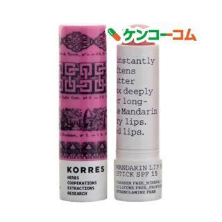 コレスナチュラルプロダクト コレスナチュラルプロダクト KORRES NATURAL PRODUCTS リップバター スティック ピンク SPF15 5mLの画像