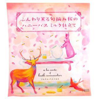 チャーリー チャーリー CHARLEY ソムリエバスソルト ふんわり薫る旬摘み桜のハニーバス ミルク仕立て 40gの画像