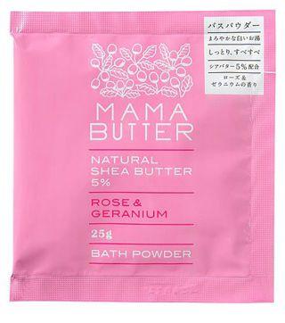 ママバター ママバター MAMA BUTTER バスパウダー ローズ&ゼラニウム 25gの画像