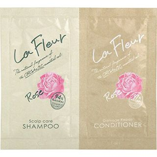 ラ・フルール ラ・フルール La Fleur ヘアケアお試しパウチ ローズ サンプルサイズ 10ml ローズの画像