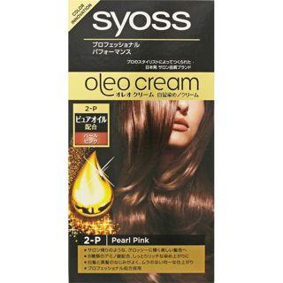 サイオス サイオス syoss オレオクリームヘアカラー パールピンク/やわらかなピンクニュアンスベージュ 50g+50gの画像