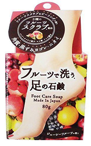 ペリカン石鹸 ペリカン石鹸 MAMA CHAPO フルーツで洗う足の石鹸 80gの画像