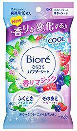 ビオレ ビオレ Biore さらさらパウダーシート アイスミントtoベリーの香り 10枚の画像