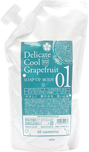 オブ・コスメティックス オブ・コスメティックス Of cosmetics ソープ オブ ボディ・01-G リフィル 700ml ミント・グレープフルーツの香りの画像