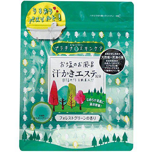 マックスのマックス お塩のお風呂汗かきエステ気分 フォレストグリーン フォレストグリーンの香りに関する画像1