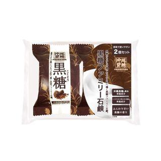 ペリカン石鹸 ペリカン石鹸 MAMA CHAPO ファミリー黒糖石鹸 80g×2の画像
