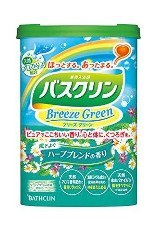 null バスクリン BATHCLIN バスクリン ブリーズグリーン ハーブブレンドの香り リーフグリーン(透明タイプ) 600gの画像