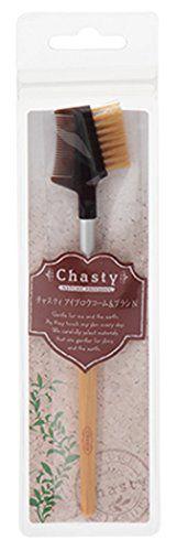 チャスティ チャスティ Chasty NATURE FRIENDLY アイブロウコーム&ブラシ 全長:162mmの画像