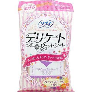 null ソフィ Sofy ソフィ デリケートウェットシート フレッシュフローラルの香り 6枚×2の画像