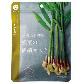 @cosme nippon @cosme nippon 美肌の貯蔵庫 根菜の濃縮マスク 土佐一しょうが 10枚入りの画像