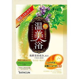 バスクリン  温美浴 リフレッシュハーバルの香り 分包 リラクシングホワイト色(にごりタイプ) 40gの画像
