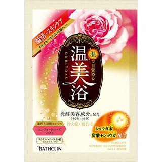 バスクリン  温美浴 コンフォートローズの香り 分包 リラクシングホワイト色(にごりタイプ) 40gの画像
