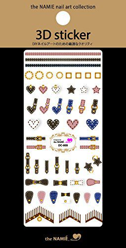 the NAMIE nail art collection the NAMIE nail art collection ナミエネイル3D STICKER DC-009 1シートの画像