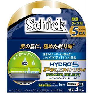 シック シック Schick ハイドロ5プレミアム パワーセレクト替刃 4個入りの画像