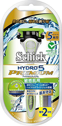 シック シック Schick ハイドロ5プレミアムホルダー敏感肌用(替刃2コ付)の画像