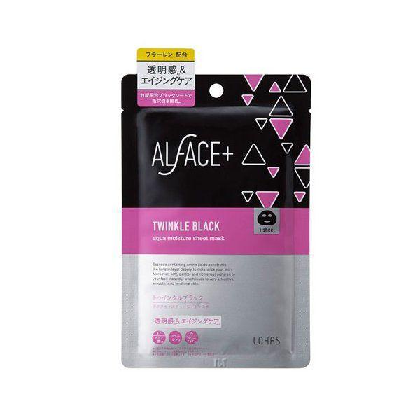 ALFACE トゥインクルブラック アクアモイスチャーシートマスク/1枚 25ml/1枚のバリエーション4