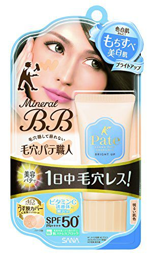 毛穴パテ職人 ミネラルBBクリーム  BU ブライトアップ 30g SPF50+ PA++++の画像
