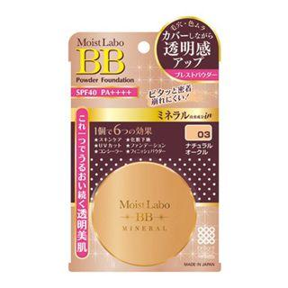 明色 明色化粧品 Meishoku モイストラボ BBミネラルプレストパウダー SPF40 PA++++ 03 ナチュラルオークルの画像