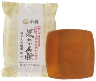 鶴の玉手箱 鶴の玉手箱 米ぬか石けん 100gの画像
