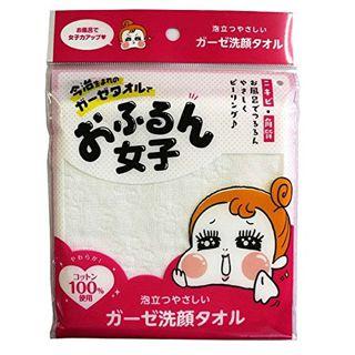 おふるん女子 おふるん女子 ガーゼ洗顔タオル ホワイトの画像