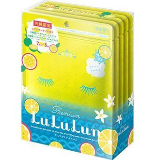 ルルルン  沖縄限定 沖縄プレミアム ルルルン LuLuLun フェイスマスク シークワーサーの香り 7枚入り×5袋の画像