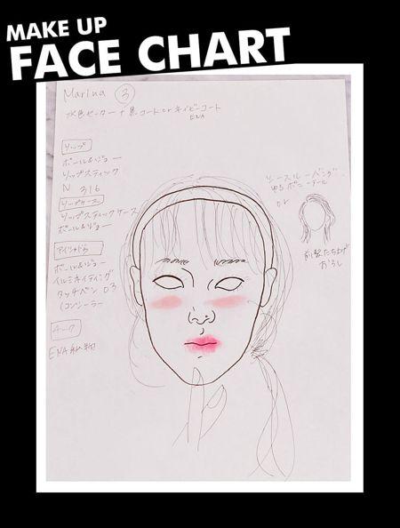 Make Up Face Chart