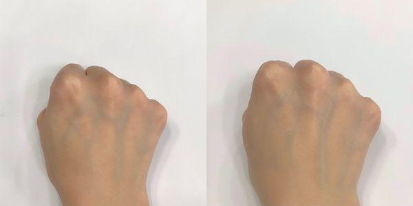 左:素肌 右:使用後