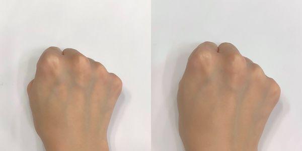 ライト(左:素肌 右:使用後)